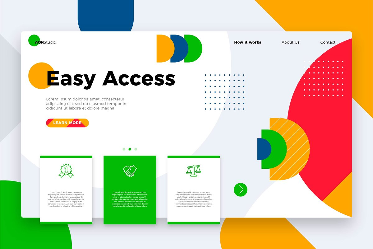Easy Access - Banner & Landing Page