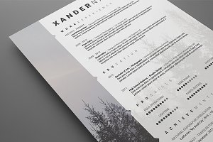 Photographer Resume - .PSD Template
