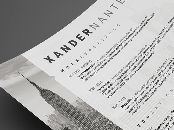 photographer resume psd template resume templates on creative market - Photography Resume