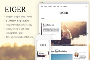 Eiger - A Responsive WordPress Theme