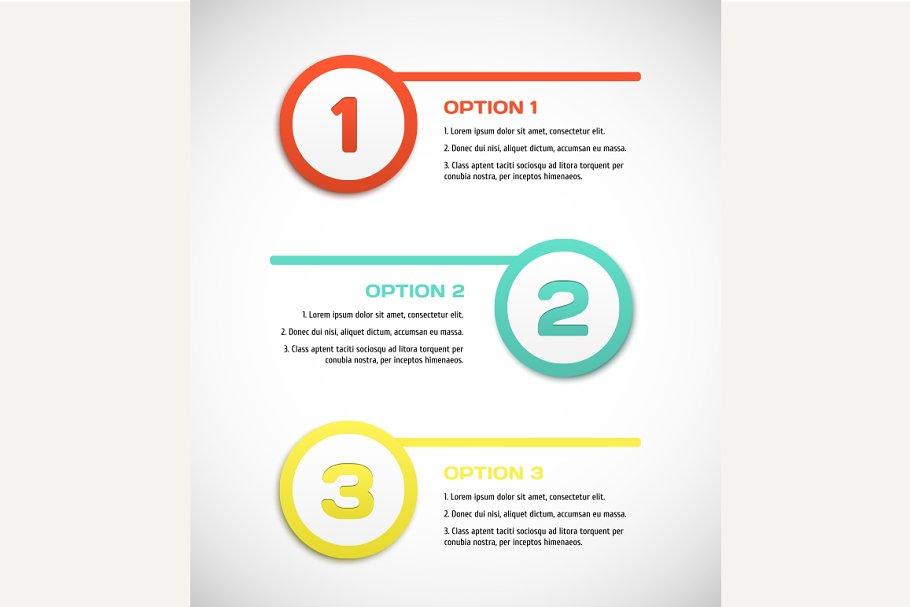 One two three - vector progress step ~ Graphics ~ Creative Market