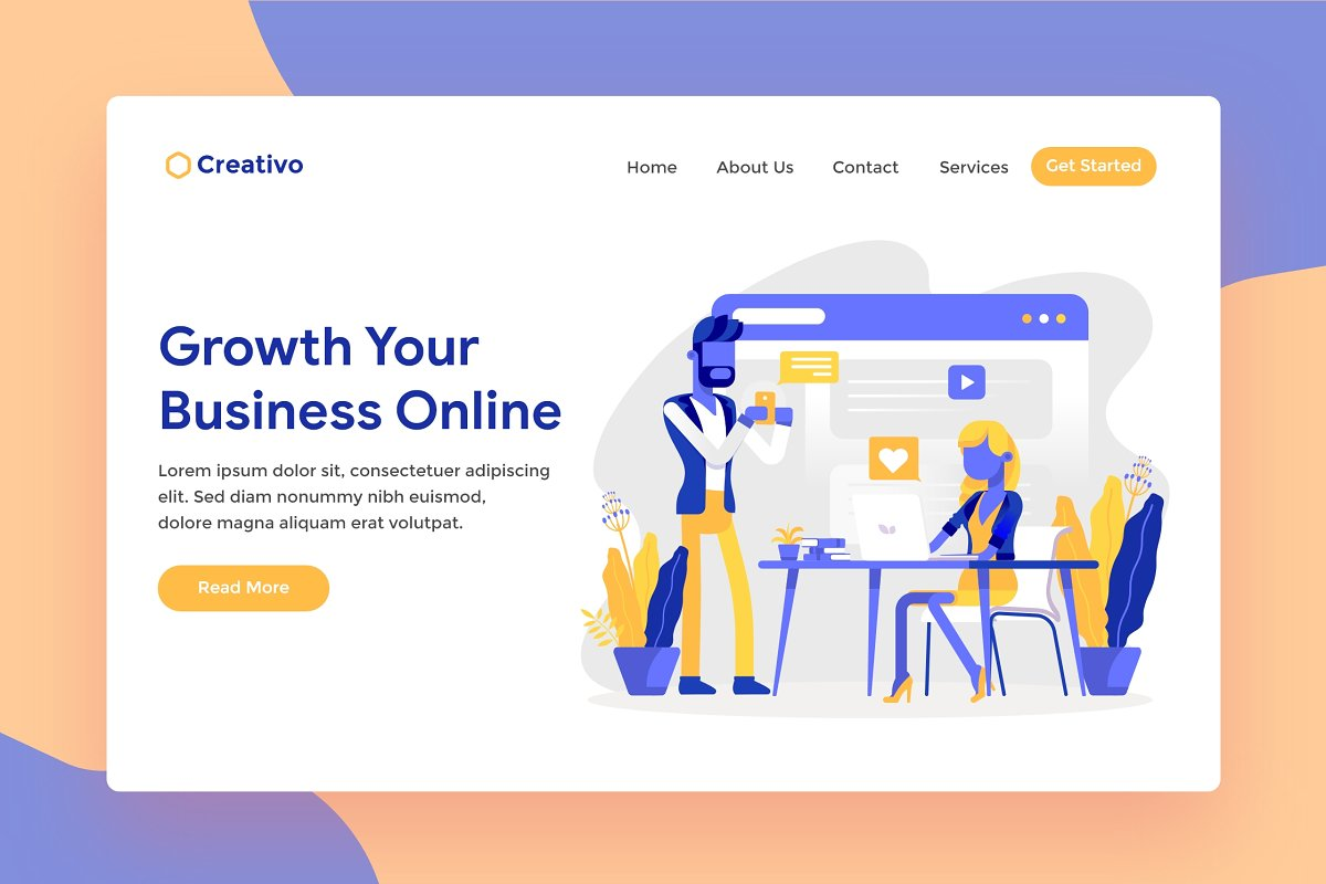 Online Business Web Landing Page