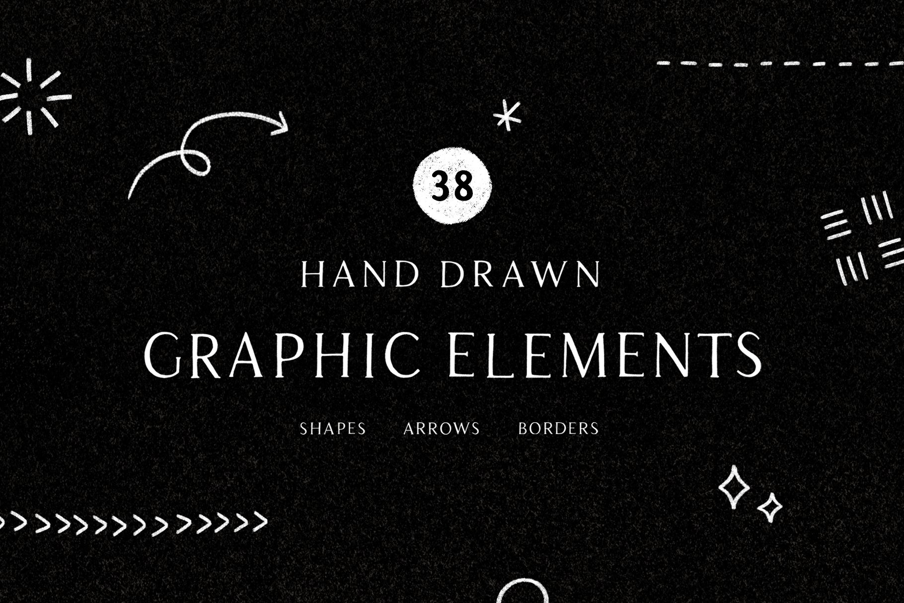 Hand Drawn Shapes Graphic Elements Pre Designed Photoshop Graphics Creative Market