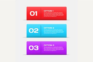 Web banners / infographic elements