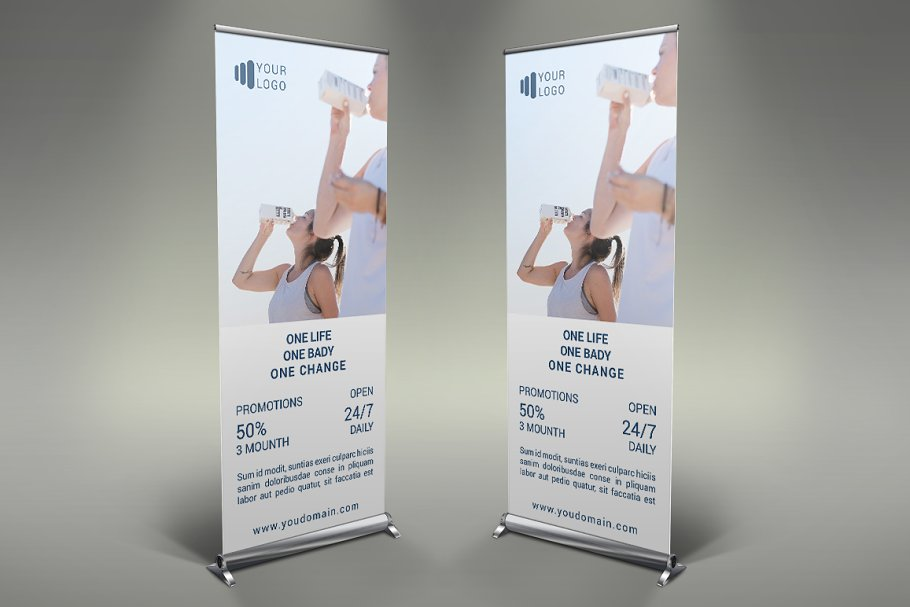 Gym - Roll Up Banner