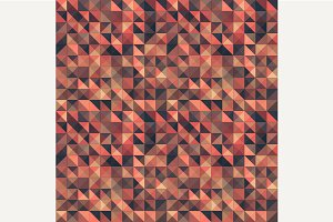 Retro seamless triangle pattern