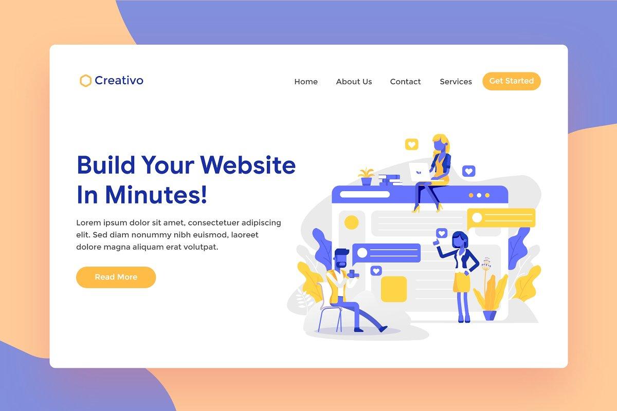 Website Builder Hosting Landing Page