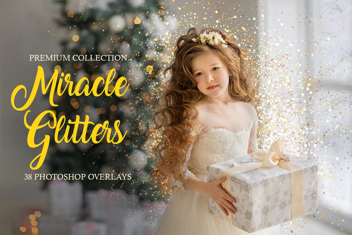 Miracle Glitters Photoshop Overlays