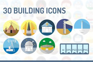 30 Building Icons