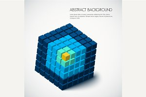 3D Abstract geometric background