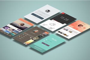 Mobile Mock Ups - Isometric Scenes