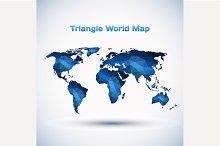Triangle World Map Illustration
