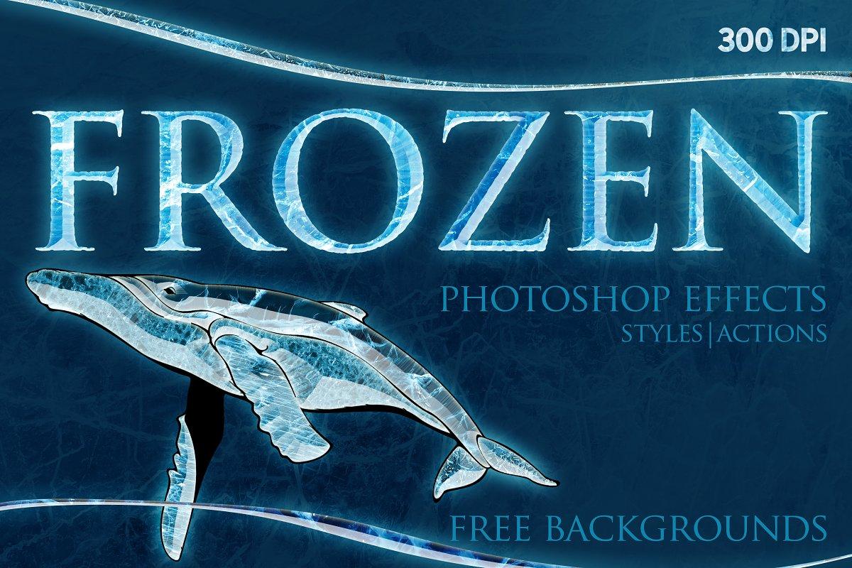 FROZEN Photoshop Effects+Action