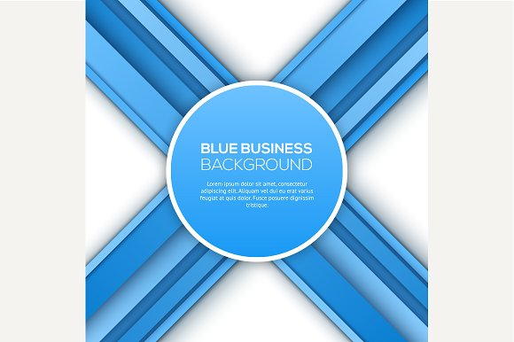 Abstract 3D blue background. Vector. - Graphics