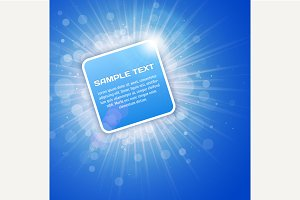 Blue Bright 3D Background with text
