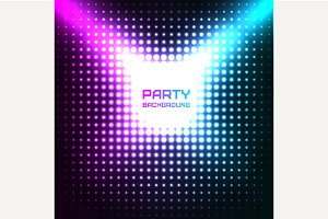Shiny Disco Party Background Vector