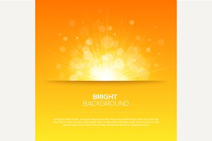 Shiny sun vector sunbeams background