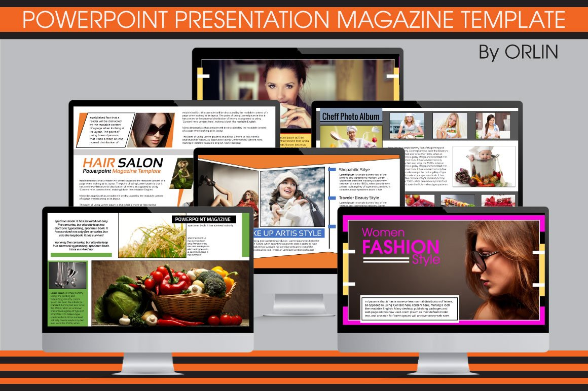 Powerpoint magazine template presentation templates creative powerpoint magazine template presentation templates creative market toneelgroepblik Image collections