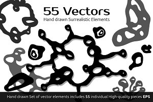 Hand drawn Surrealistic Vector Items