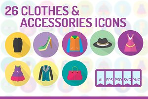 26 Clothes & Accessories Icons