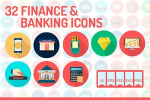 32 Finance & Banking Icons