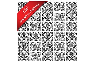 150 Seamless Damask Patterns