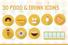 30 Food & Drink Icons
