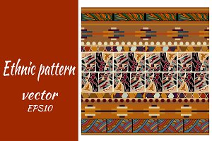 Seamless vector pattern with ethnic