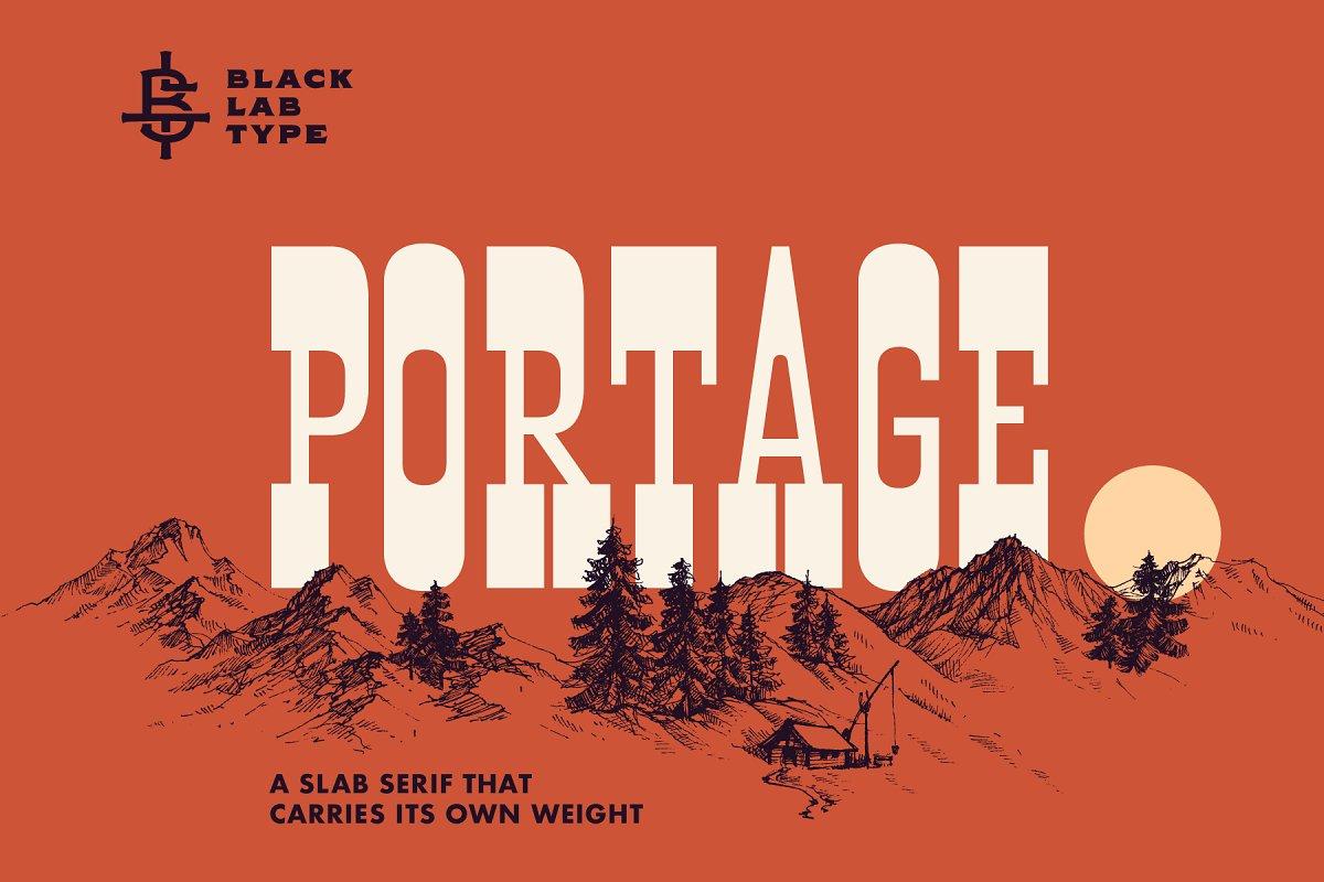 Portage - Adventurous Slab Serif