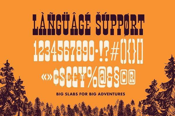 Best Portage : Adventurous Slab Font Vector