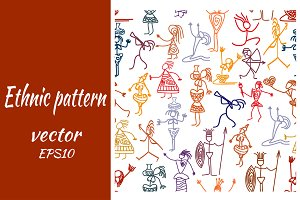 Seamless vector pattern with people