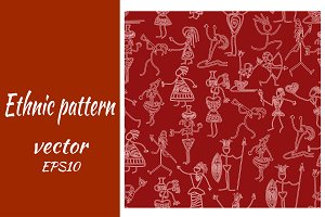 vector pattern with primitive people