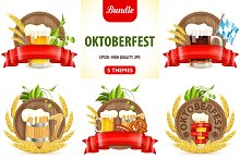 Oktoberfest Posters with Beer