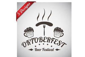 5 Oktoberfest Emblems