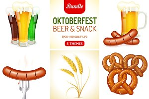 Oktoberfest Themes with Beer & Snack