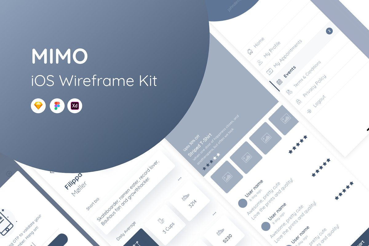 MIMO Wireframe Kit ~ Wireframe Kits ~ Creative Market