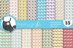 herringbone arrows digital paper