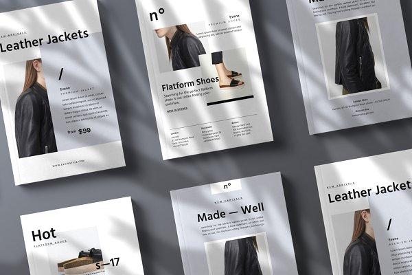 Flyer Templates: Nonola - Set of Promo Cards • Éva