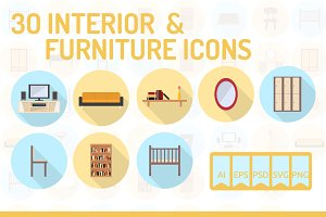 30 Interior & Furniture Icons