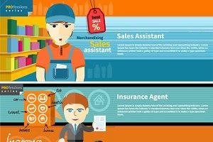 Assistant, Insurance Agent, Postman