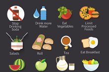 16 Icons Food Collection