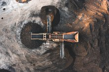 Aerial photo of a dirt and soil by  in Industrial