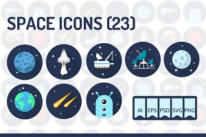 23 Space Icons