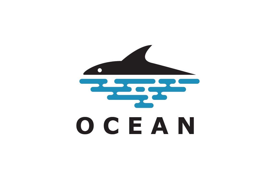 Fish and Ocean Logo Template ~ Logo Templates ~ Creative