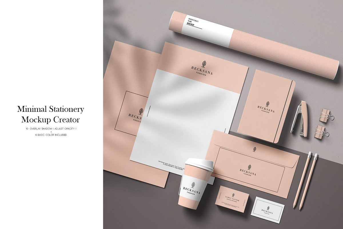 Minimal Stationery Mockup Creator in Branding Mockups - product preview 8