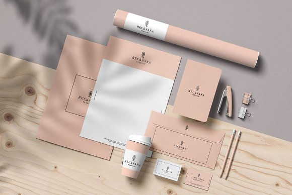 Minimal Stationery Mockup Creator in Branding Mockups - product preview 1
