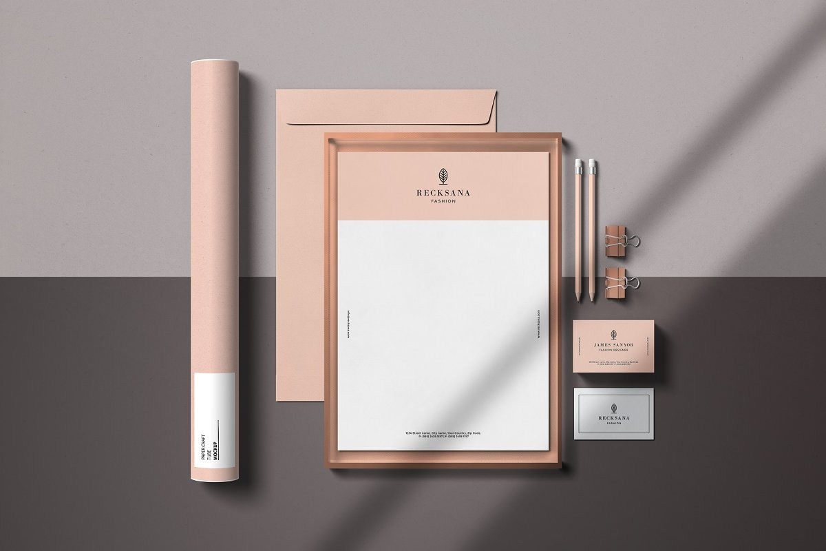 Minimal Stationery Mockup Creator in Branding Mockups - product preview 3