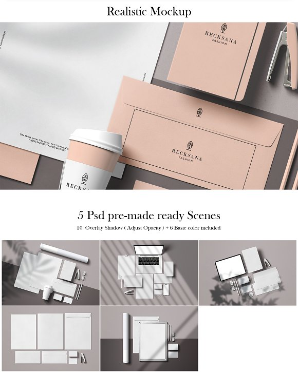 Minimal Stationery Mockup Creator in Branding Mockups - product preview 6