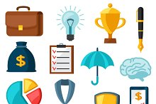 Business and finance flat icons.