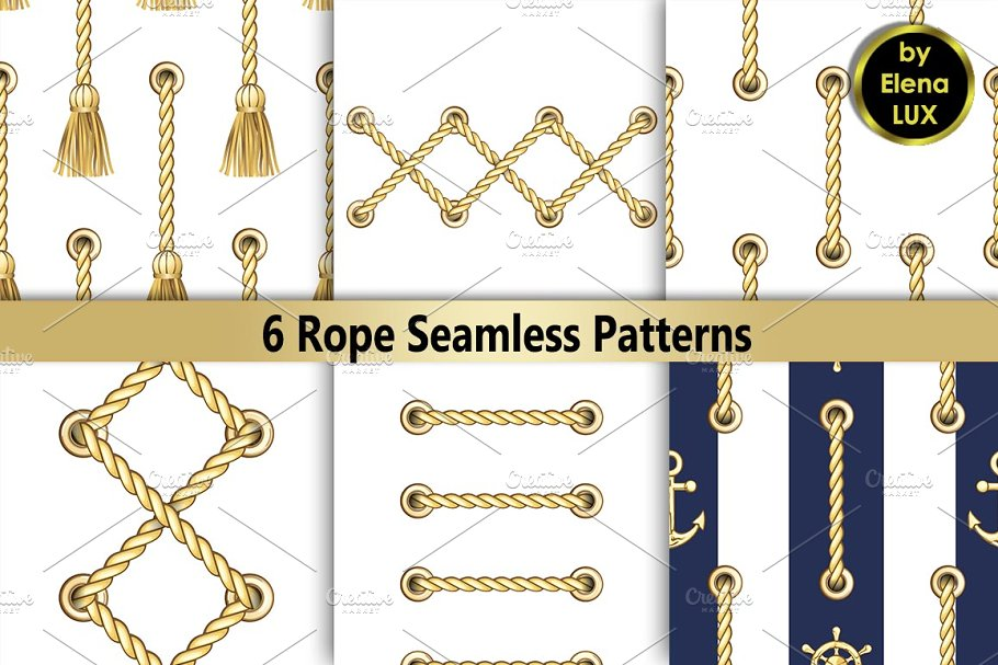 Rope with Metal Eyelets Seamless Set
